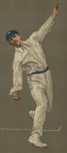 "Spottiswoode: Wilfred Rhodes. 1905. An original antique chromolithograph. 10"" x 15"". [SPORTSp3334]"