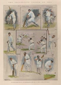Lord's: MCC v Leictershire. Ten sketches of the match including WG Grace and Sir Arthur Conan Doyle.