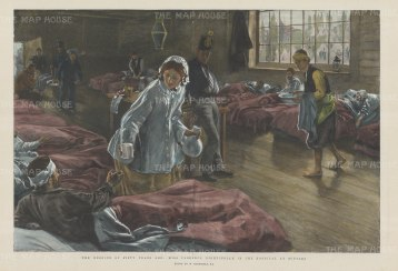 Florence Nightingale in the Hospital at Scutari.