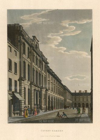 "Malton: Covent Garden. 1792. A hand coloured original antique aquatint. 11"" x 14"". [LDNp3295]"