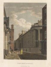 """Malton: Bank, North Front. 1792. A hand coloured original antique aquatint. 11"""" x 14"""". [LDNp3300]"""