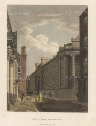 "Malton: Bank, North Front. 1792. A hand coloured original antique aquatint. 11"" x 14"". [LDNp3300]"