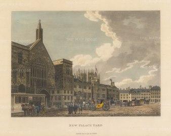 "Malton: New Palace Yard. 1792. A hand coloured original antique aquatint. 14"" x 11"". [LDNp3301]"