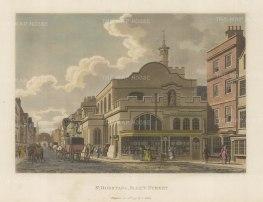 "Malton: St. Dunstan's Fleet Street. 1792. A hand coloured original antique aquatint. 14"" x 11"". [LDNp3304]"