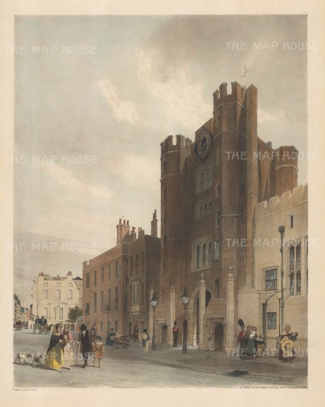 St.James's Palace: North Front to St James's Palace From Cleveland Row.