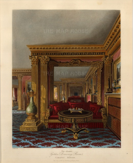 Golden Drawing Room: An alcove.