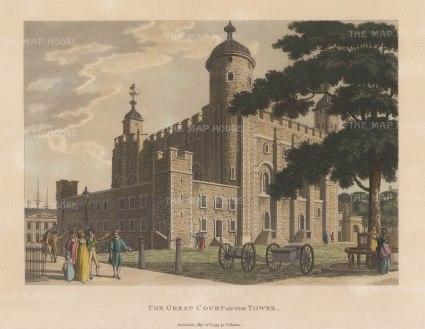 "Malton: Tower of London. 1792. A hand coloured original antique aquatint. 14"" x 11"". [LDNp8751]"