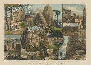 Guatemala: Nine views of Antiquarian interest including the Tierra del Peten.