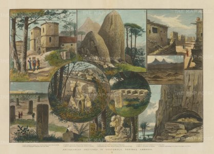 Guatemala: Nine views of Antiquarian interest including the Tierra del Peten.