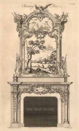 Design for a Chimney piece: Fishing scene on mantle. No. CLXXXIII: