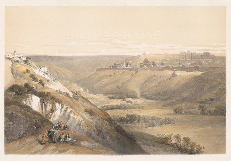 Distant panorama of the City with robed figures in foreground.