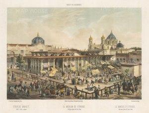 Mexico City: Old St. John Square. Iturbide Market (San Juan Ernesto Pugibet Market).