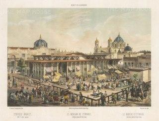 Plaza de San Juan. View of the Iturbide Market.