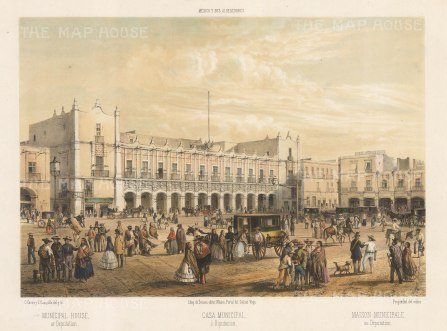 Mexico City: The National Palace and the Plaza de la Constitution.