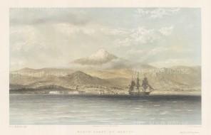 Orizana (Orizaba): Coastal profile and volcano.