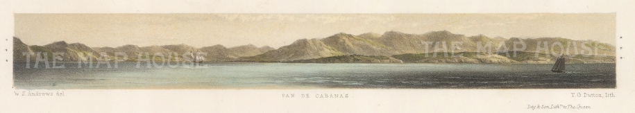 "Capt. Andrews: Pan de Cabanas. 1860. An original colour antique lithograph. 13"" x 3"". [MEXp88]"