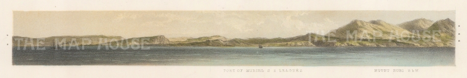 "Capt. Andrews: Port Muriel. 1860. An original colour antique lithograph. 12"" x 3"". [MEXp91]"