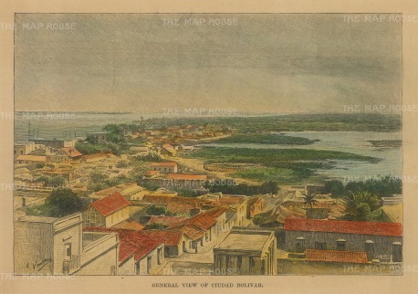 Ciudad Bolivar, Venezuela: View over the city towards the Orinoco river.