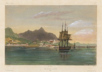Rio de Janeiro. After Barthelemy Lauvergne, artist on the voyage of La Bonite 1836-7.