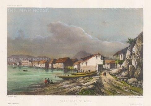 Bay of Paita, Peru. After Barthelemy Lauvergne, artist on the voyage of La Bonite 1836-7.