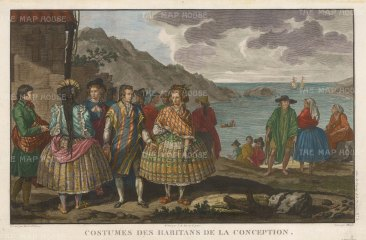 Conception, Chile: Inhabitants in traditional dress.
