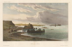 Cobija, Chile: After Barthelemy Lauvergne, artist on the voyage of La Bonite 1836-7.