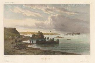 Cobija, Chile: After Barthelemy Lauvergne, artist on the voyage of La Bonite 1836-7.