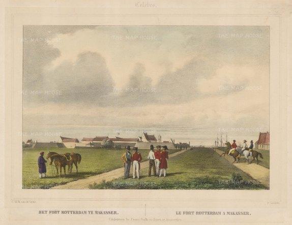 Celebes (Sulawesi): Fort Rotterdam at Makasser (Ujung Pandang).