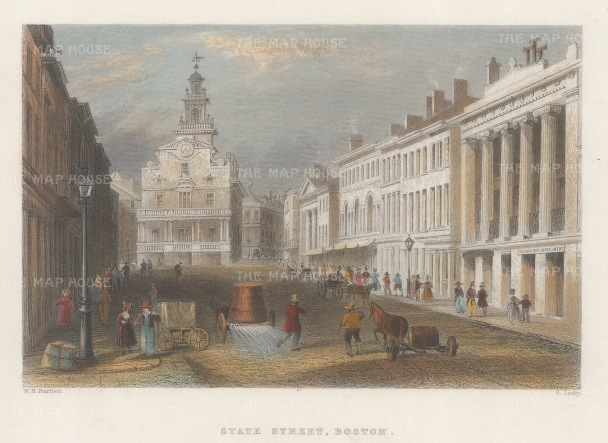 Boston: View on State Street.