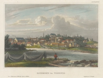 Richmond: View of the city from across the James River.