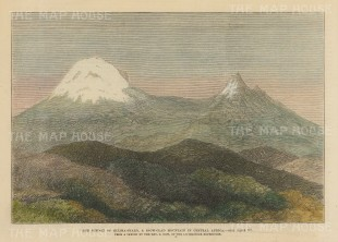 Kilimanjaro: View of the summit after the Rev. New of Henry Stanley's expedition.