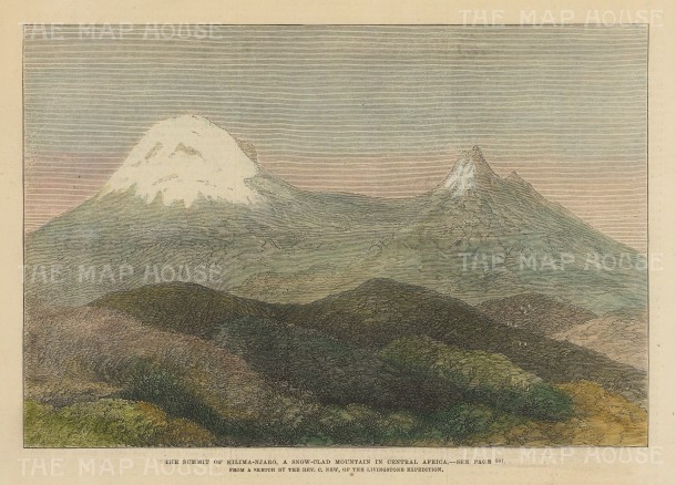 Kilimanjaro, Tanzania: View of the summit after Rev. New of Henry Stanley's expedition.