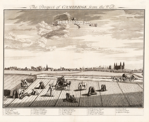 "Kip: Cambridge. c1720. An original antique copper engraving. 24"" x 19"" [CAMBSp412]"