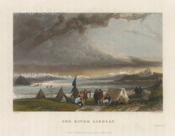 River Lindsay: View of the encampment. 2nd Arctic Expedition 1829-33.