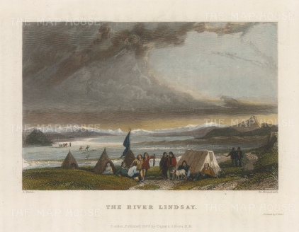 River Lindsay: View of the settlement.
