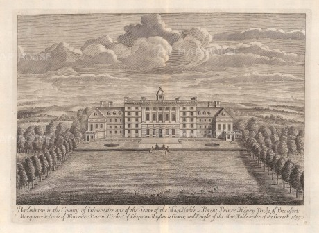 Badminton, Gloucestershire: Seat of Prince Henry, Duke of Beaufort.