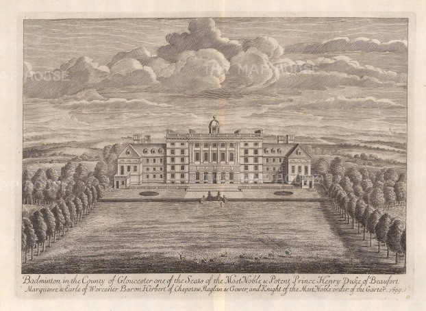 SOLD. Badminton, Gloucestershire: Seat of Prince Henry, Duke of Beaufort.