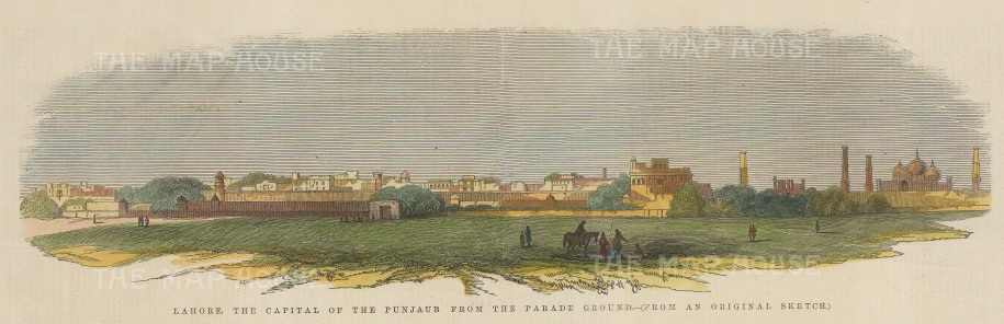 Lahore: View of the city from the parade grounds.