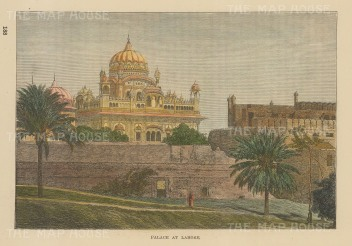 Lahore:View of the palace.