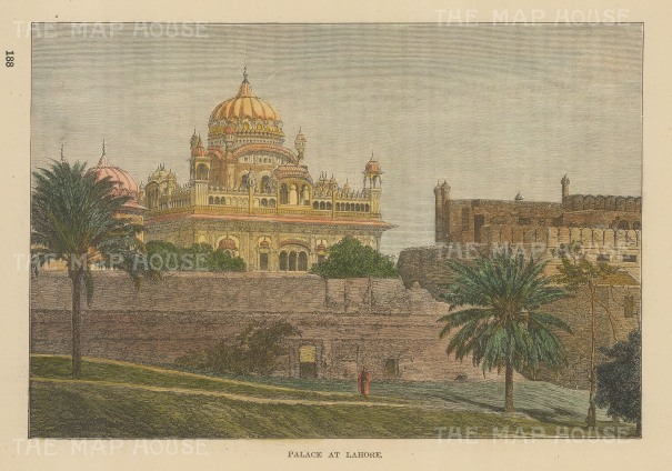 Lahore: View of the palace.