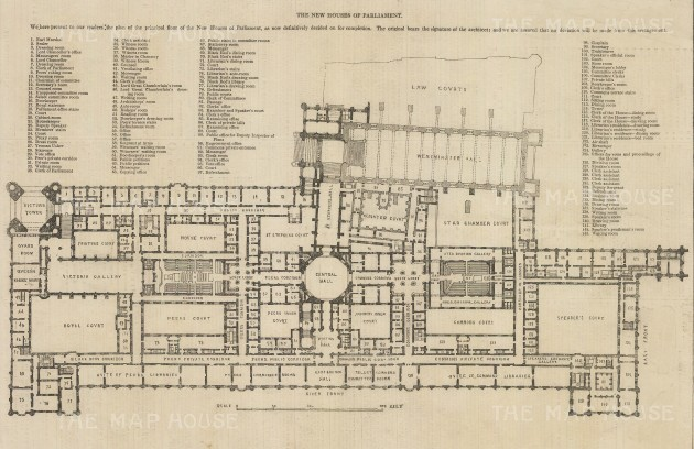 Parliament: Plan of the principal floor with key.