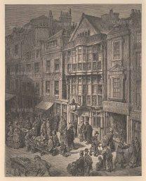 "Dore: East End. 1874. An original antique wood engraving. 9"" x 11"". [LDNp8164]"