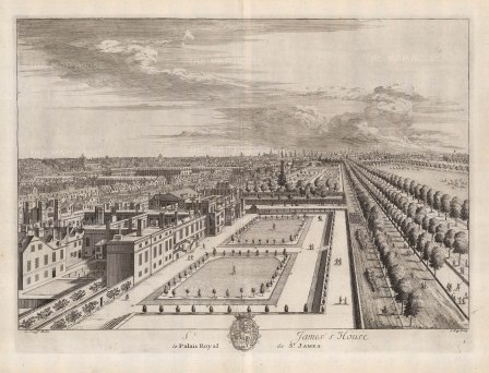 St. James's Palace: Bird's eye view of the palace and grounds.