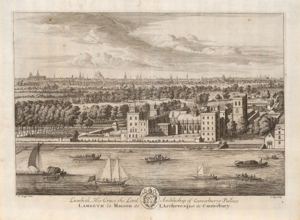 Lambeth Palace. Palace of the Archbishop of Canterbury.