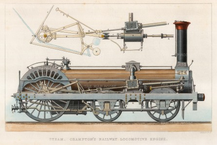 Crampton's Railway Locomotive Engine.