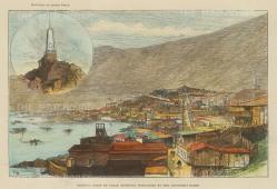 Pisagua, Chile: Inset of the Monument to Arturo Pratt.