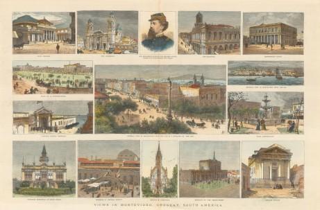 Montevideo, Uruguay: Fifteen views of the town.
