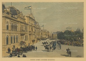 Buenos Ayres: View of the Congress buildings.