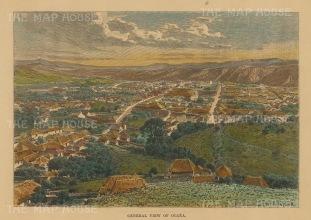 """Reclus: Ocana, Columbia. 1894. A hand coloured original antique wood engraving. 7"""" x 5"""". [SAMp1452]"""