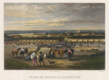 Asuncion, Paraguay: View of the Marketplace.